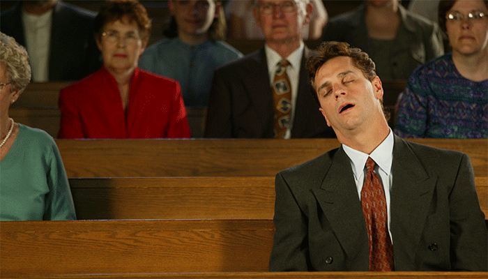 Image result for sleeping in church