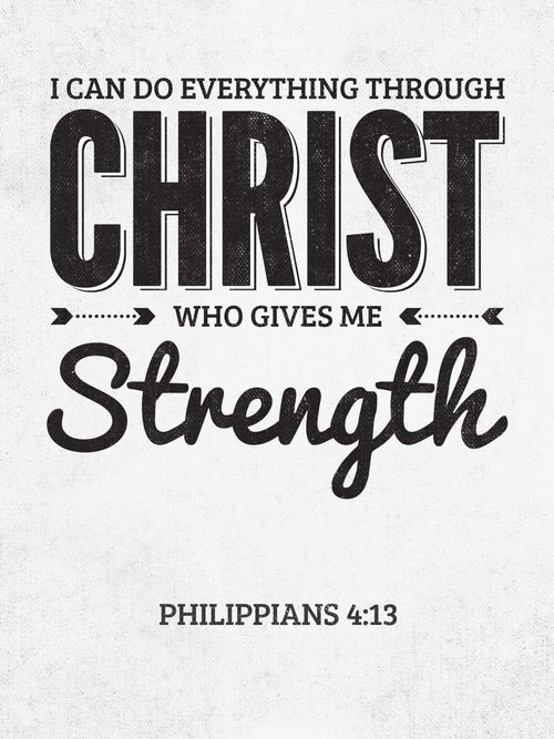 I Can Do Everything Through Christ Who Gives Me Strength