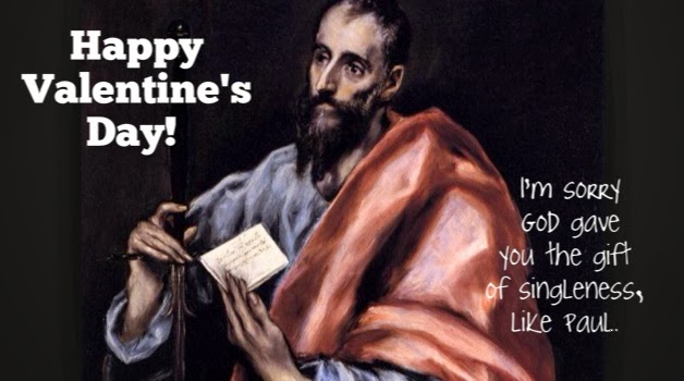A Valentines Day Card for Single Christians  Christian Funny