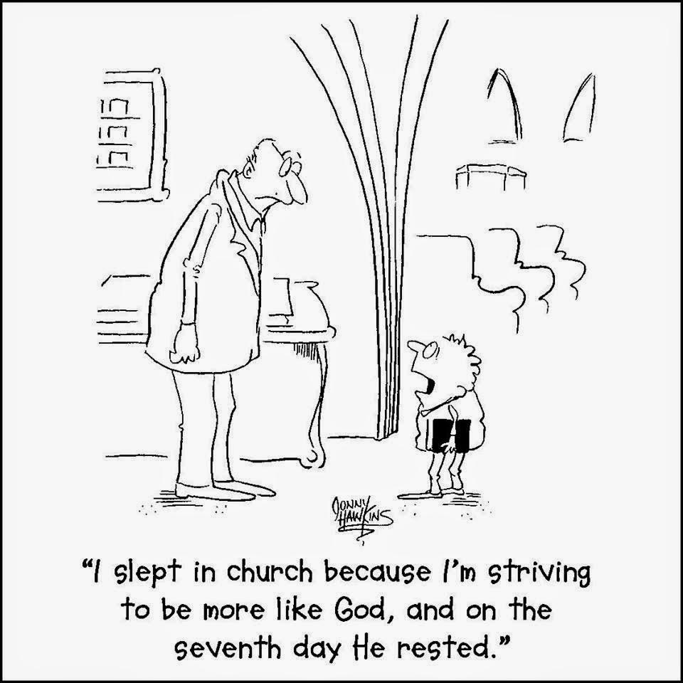 striving to be like God, resting on 7th day joke