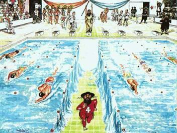 Moses swimming race