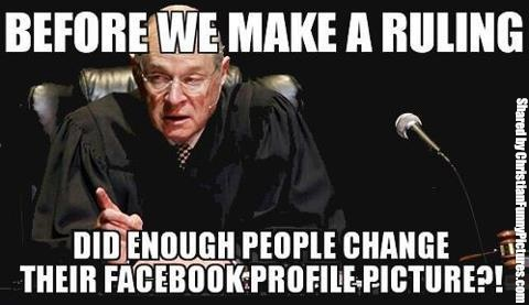 Supreme Court gay marriage facebook profile picture FB