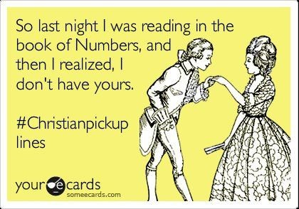christian pick up lines book of numbers