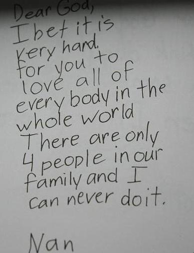 children write dear god letters 1