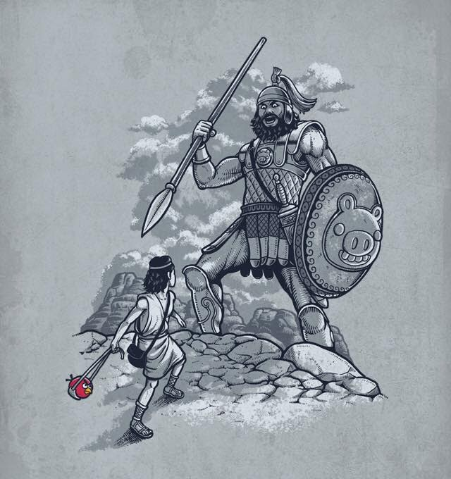 David and Goliath funny real true story 1