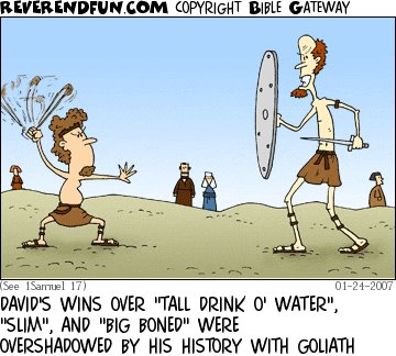 David and Goliath funny real true story 3