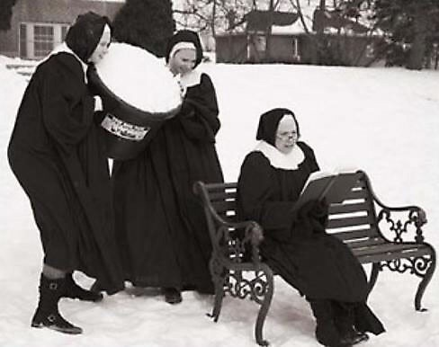 Nuns having fun 1