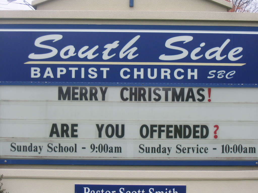 Church Christmas Sign 2