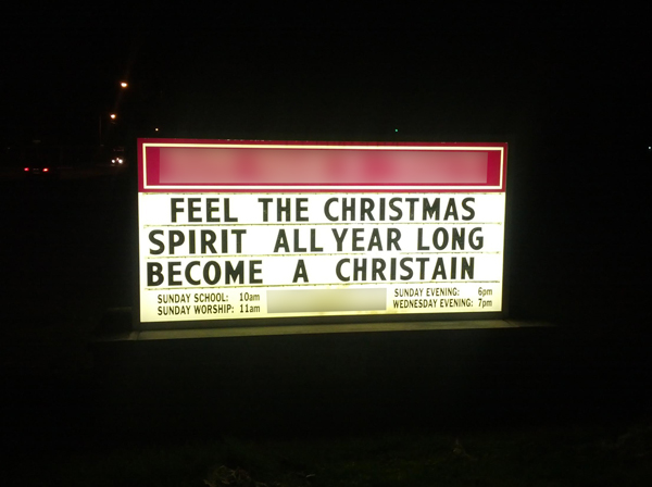 Church Christmas Sign 5