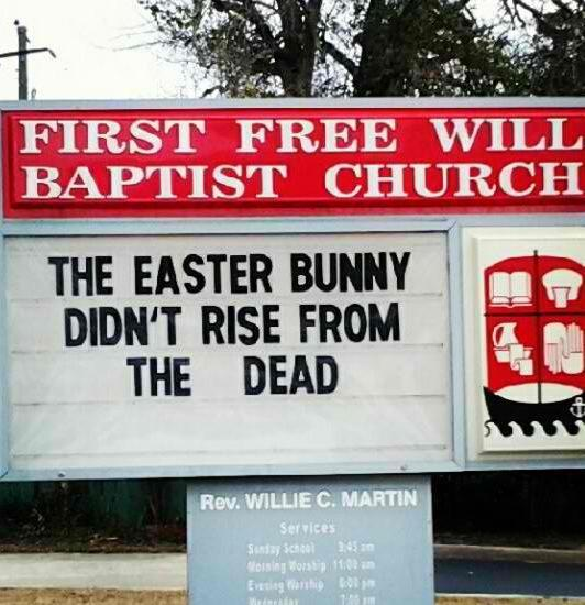 2 easter bunny didn't rise from the dead
