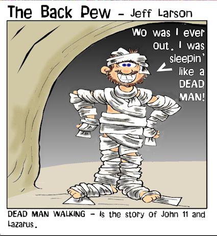 lazarus 1 dead man back pew