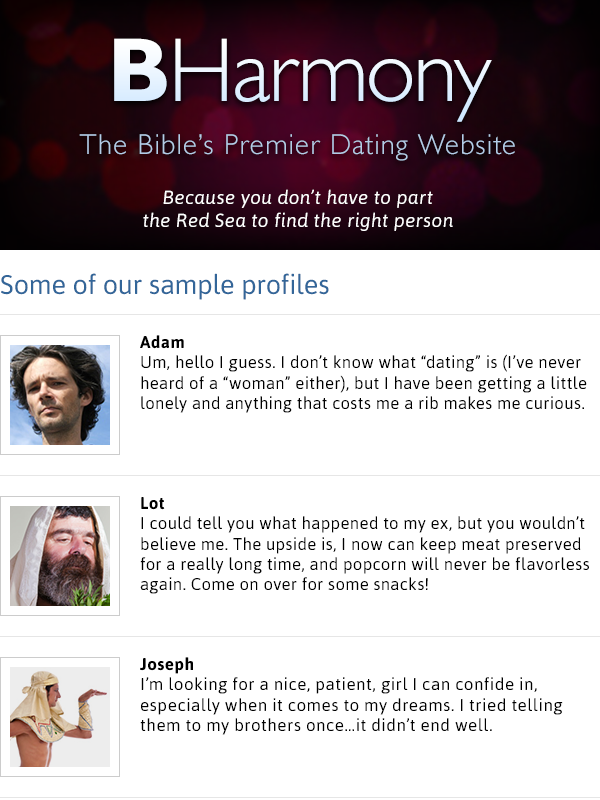 BHarmony Bible's Premier Dating Website