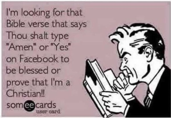 Thou shall type amen or yes to be blessed christian funny pictures