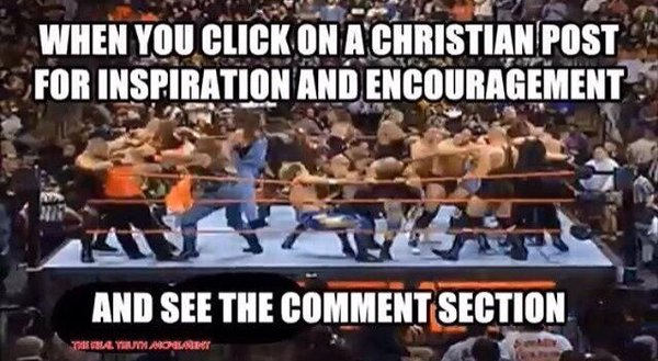 christian post and comment section when you click on a christian post for inspiration and