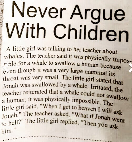 never argue with children jonah