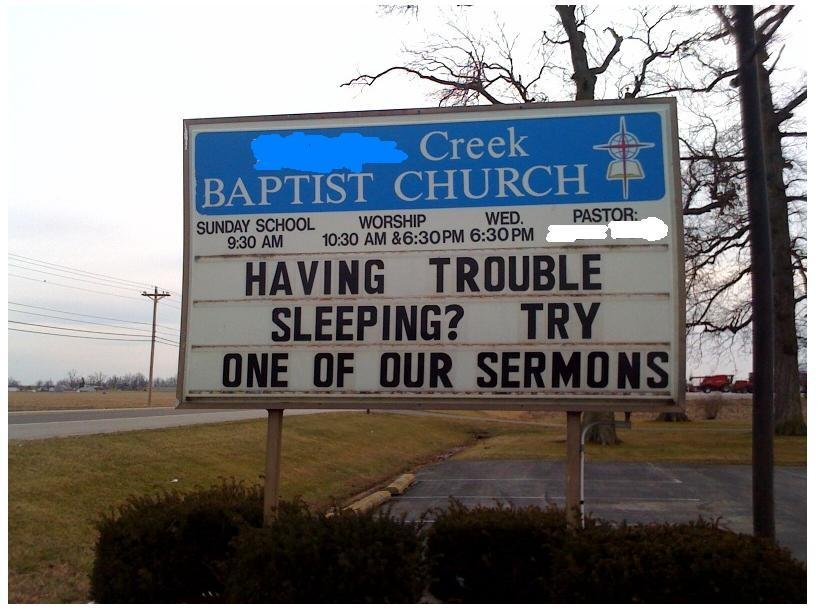 Church Sign fails funny 1
