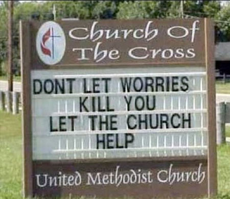 Church Sign fails funny 3