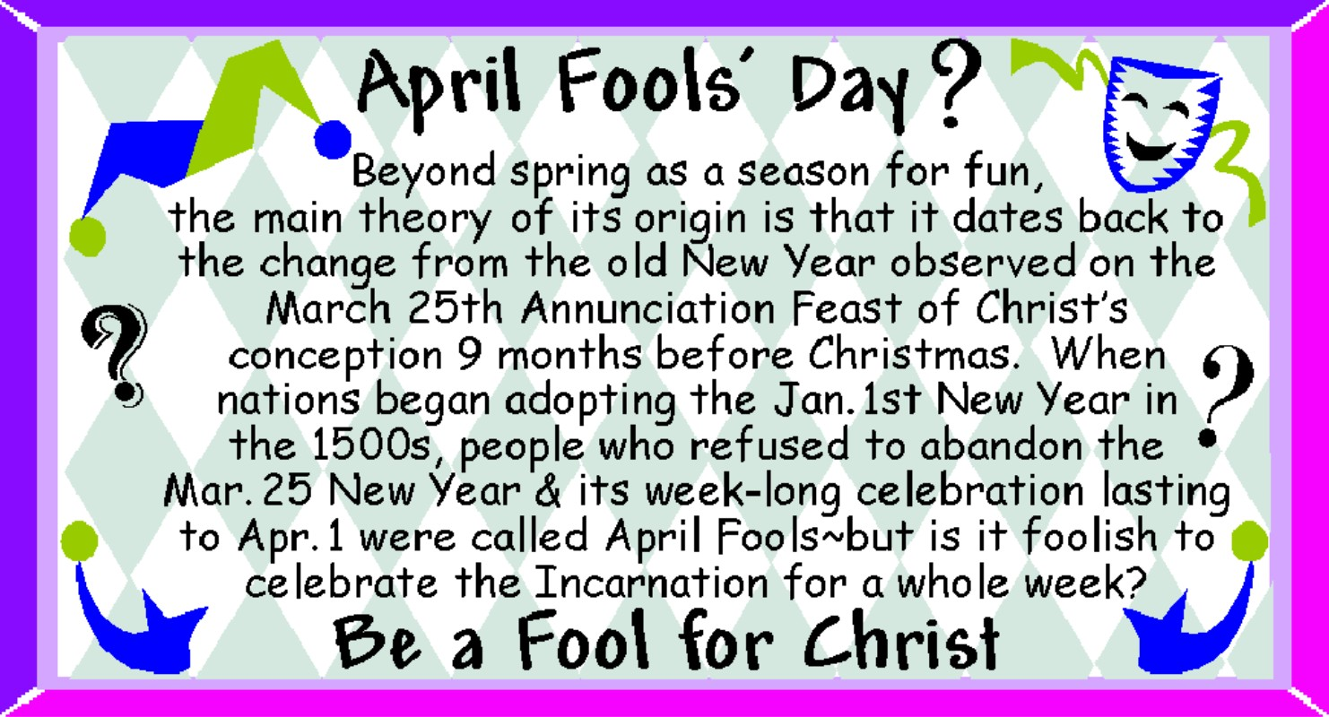 Did You Know That April Fools Day Falls On Easter Sunday